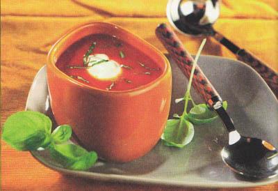 Томатный суп со сметаной - блюдо 200 калорий - меню для похудения