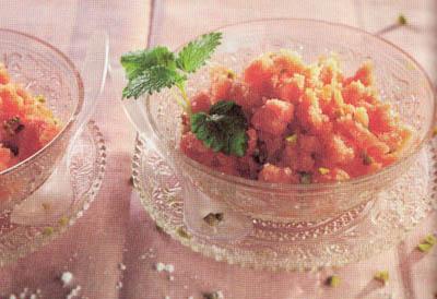 Домашнее персиковое мороженое - блюдо 100 калорий - меню для похудения