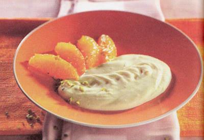 Творог с фисташками и апельсином - блюдо 200 калорий - меню для похудения