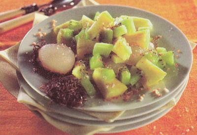 Фруктовый салат с кокосовой стружкой - блюдо 200 калорий - меню для похудения